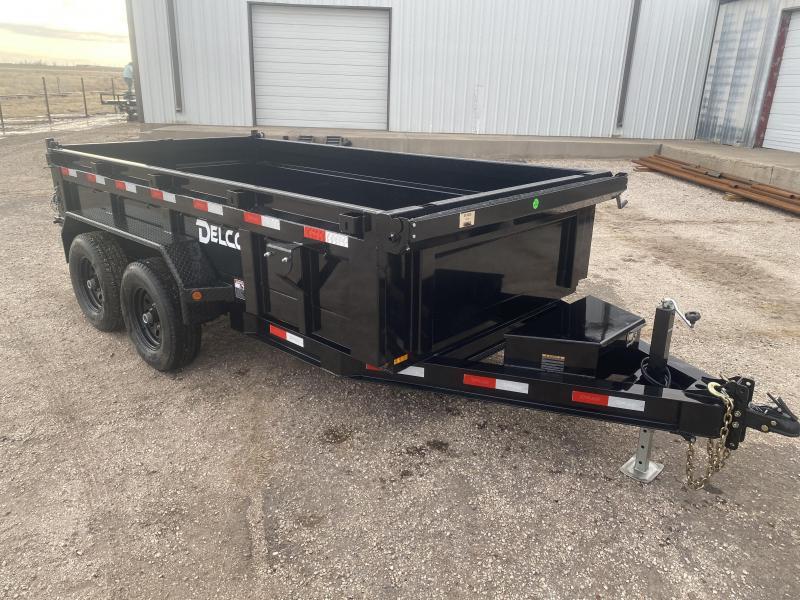 2021 Delco 72x12 Bumperpull Dump Trailer 12K
