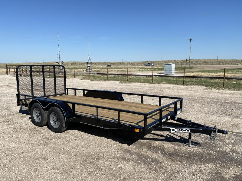 "2021 Delco Trailers Channel 77""x16' Utility Trailer"