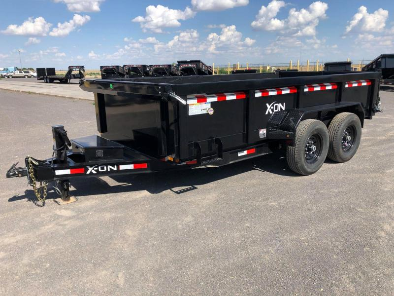 2020 X-On 83x14 Bumperpull Dump Trailer
