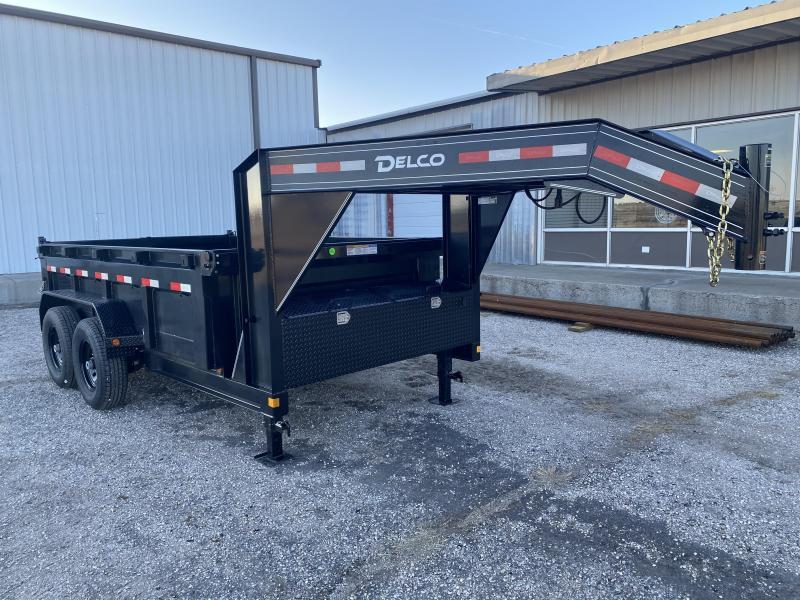 "2021 Delco 83""x12' Gooseneck Dump 14K"