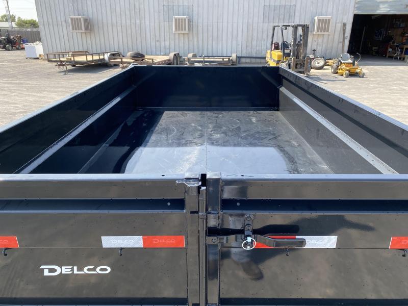 "2021 Delco 83""x12' Bumperpull Dump 14K"