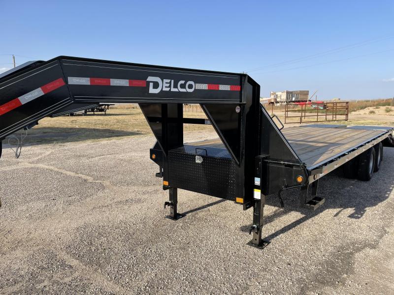 """2021 Delco 102""""x25 Dual Flatbed Trailer"""