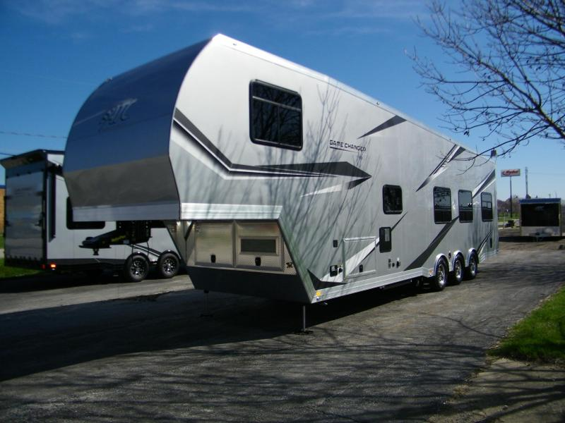 2021 ATC ATC (Aluminum Trailer Co) Game Changer 40ft Aluminum 5th Wheel Toy Hauler RV