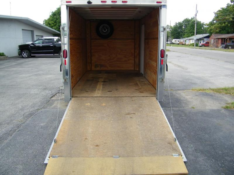 2013 Legend Trailers 7x12 Flat Top Aluminum Enclosed Cargo Trailer