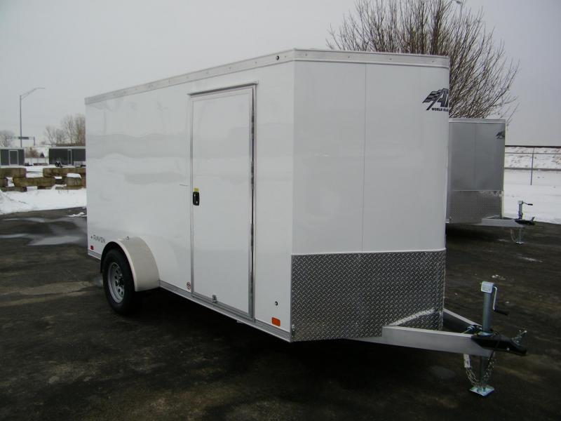 2021 ATC Raven 6x12 Aluminum V-Nose Enclosed Cargo Trailer