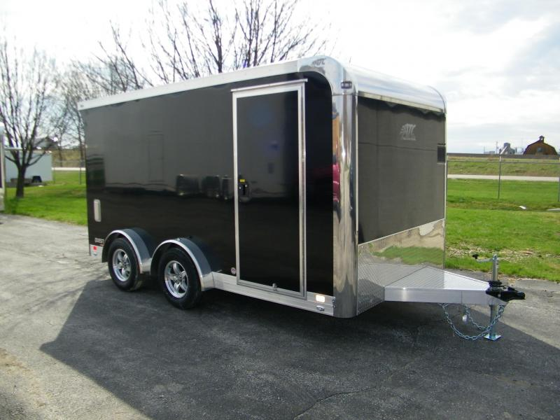 2020 ATC Quest 7.5x14 Aluminum Enclosed Motorcycle Trailer