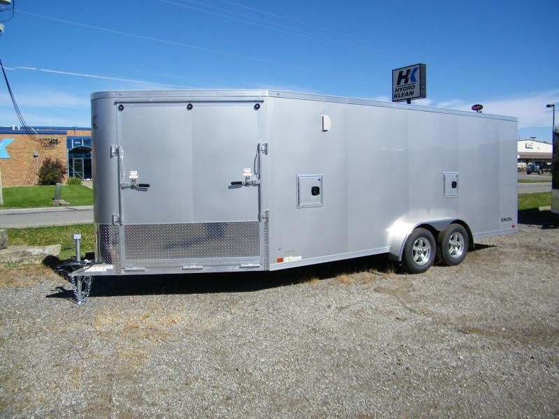 2021 ATC Raven 7x18+6 Aluminum Enclosed Snowmobile Trailer