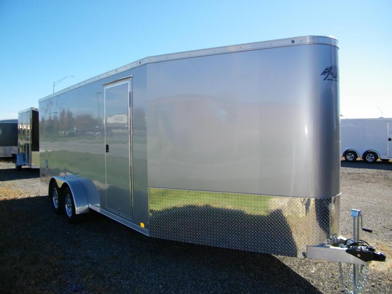 2021 ATC Raven 7x18+6 Aluminum Enclosed Snowmobile Trailer