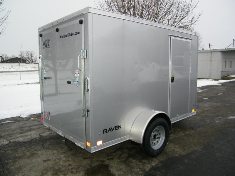 2021 ATC Raven 6x10 Aluminum V-Nose Enclosed Cargo Trailer