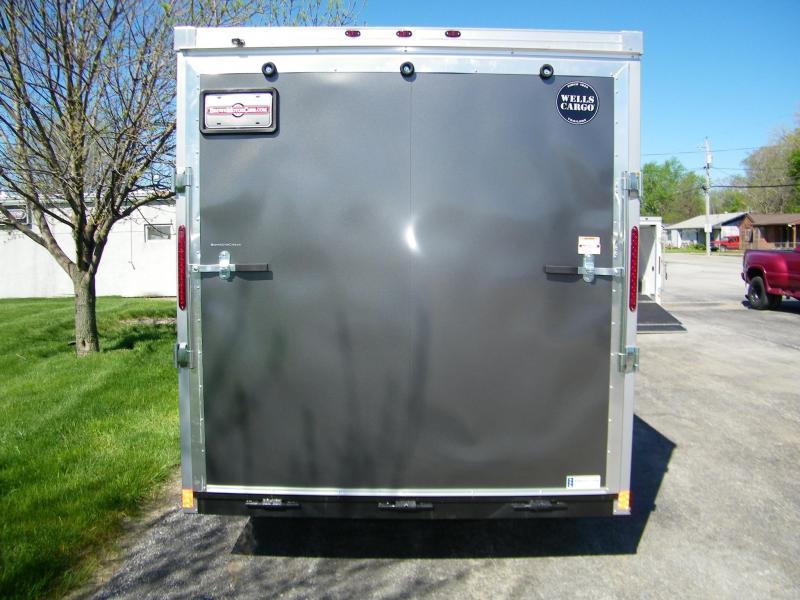 2020 Wells Cargo Road Force 7x16 V-Nose Enclosed Cargo Trailer