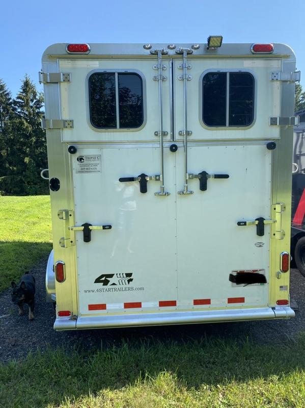2021 4-Star 2 Horse Straight Load Trailer w/ Side Ramp