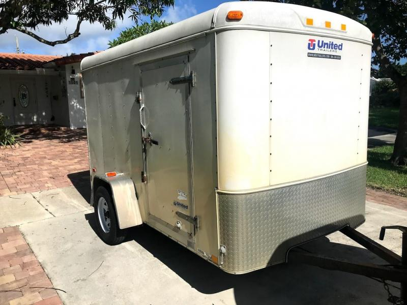 2009 United Trailers 6x10 Single Axle Motorcycle / Utility Trailer