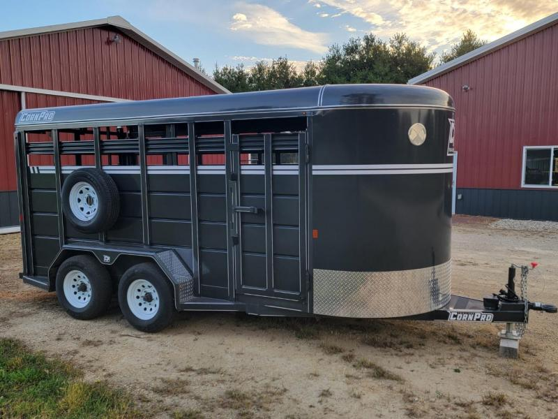 """2020 CornPro SB-16 6S (6'x16'x6'6"""") Livestock Bumper Pull Trailer"""