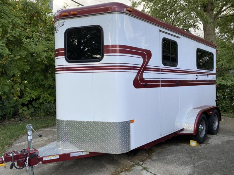 2015 Hawk Trailers Elite Custom 2 Horse Straight Load Horse Trailer