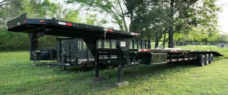 2004 Take 3 Custom Built Tri-Axle Gooseneck Step Deck Trailer