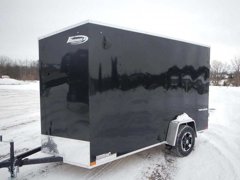 "2020 Formula Traverse 6 x 12 Enclosed Flap Top/18"" Slanted V Nose Trailer"