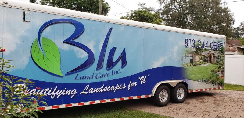 2013 Express 8 x 28 Custom Enclosed Landscape Trailer