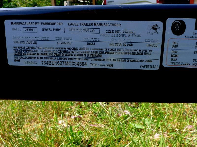2021 Eagle Car Carrier Open Auto Hauler 7 x 16