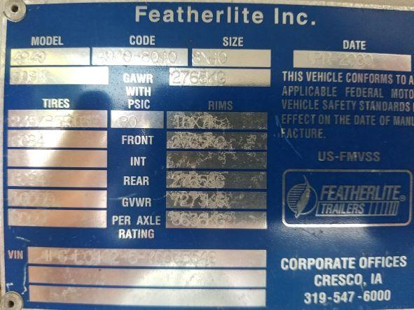2000 Featherlite 40' Gooseneck Double Car Trailer