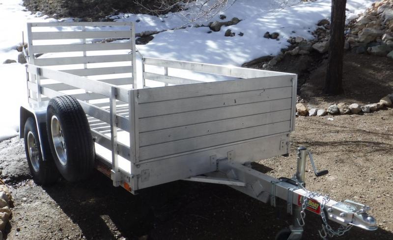 2014 Aluma 5 x 8 Aluminum Utility Trailer w/ Loading Ramp
