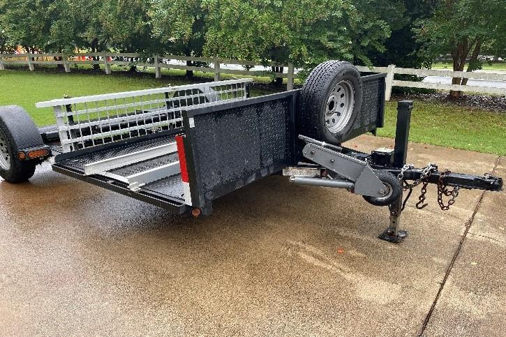 2014 Maxey 8' x 14' RV Tandem Tow Motorcycle Trailer