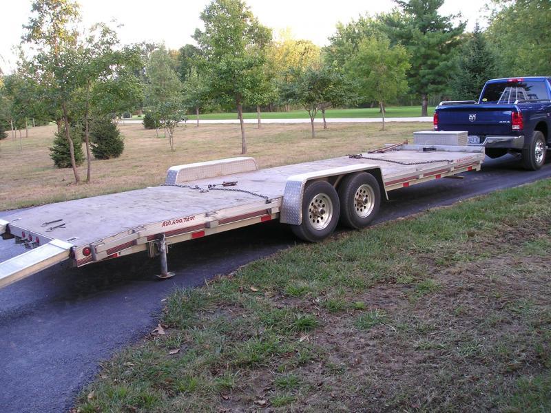 """2012 Montrose 83"""" x 24' Tandem Axle Aluminum Flatbed Trailer"""