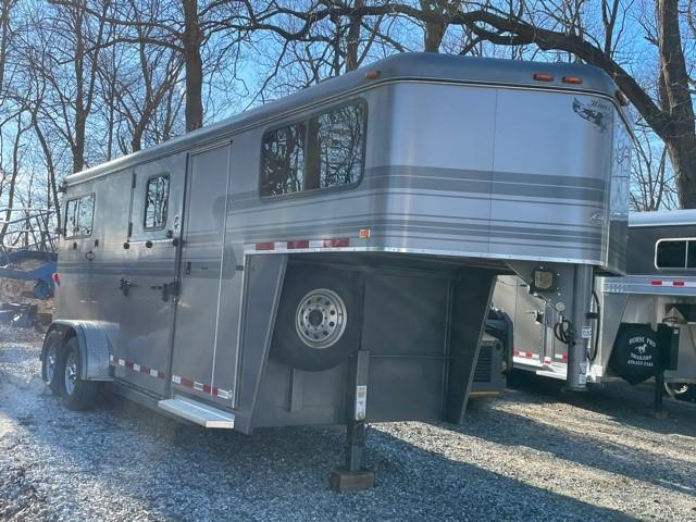 2013 Hawk 2 Horse Gooseneck Trailer w/ Side Unload Ramp