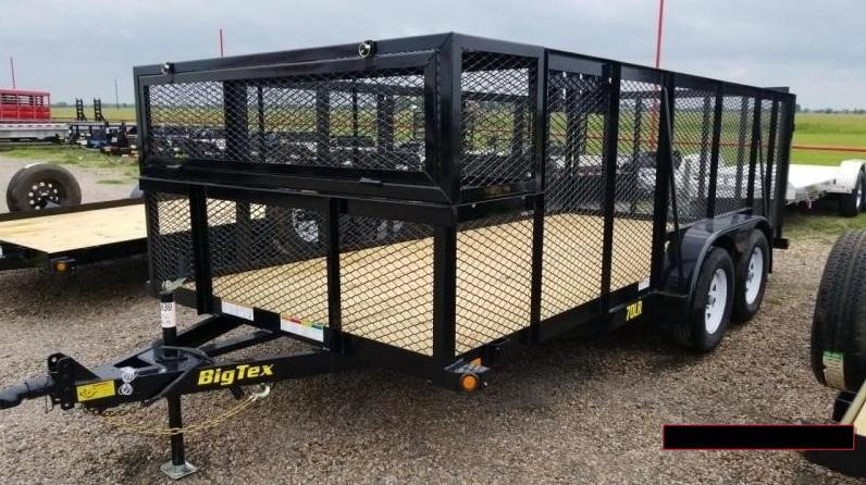 2019 Big Tex 70LR Tandem Axle Landscape Trailer