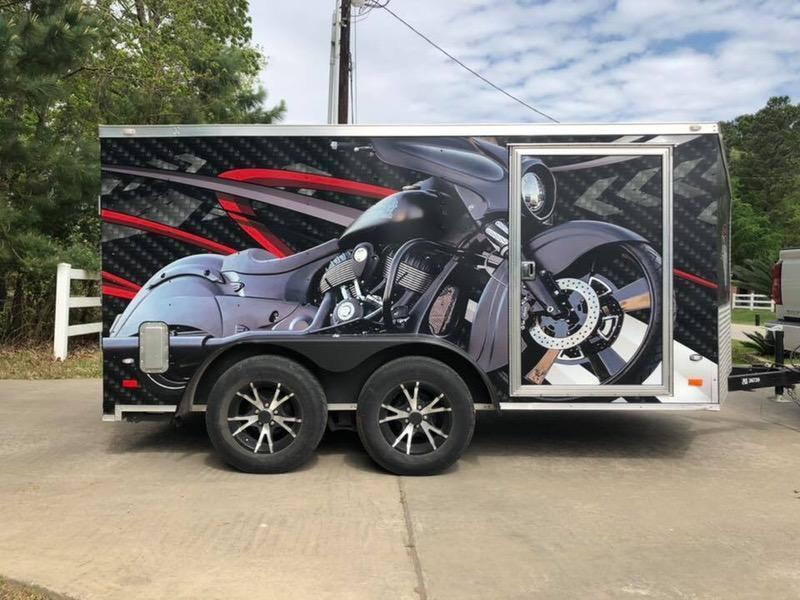 2018 Texas 7 x 12 Enclosed Motorcycle Trailer