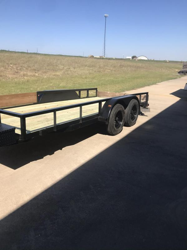 2003 CS 6' x 16' 14K Flatbed Trailer