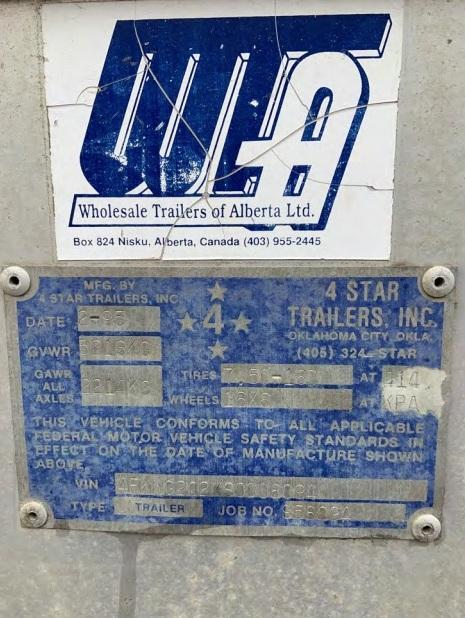 1995 4-Star 4 Horse Aluminum Trailer