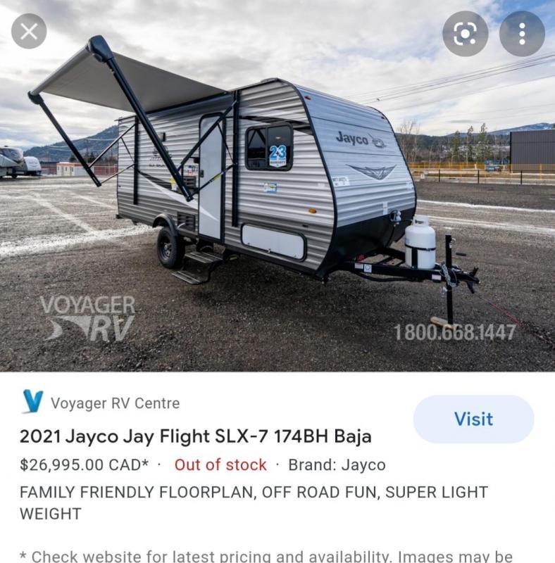 2020 Jayco Jay Flight SLX 195RB Travel Trailer