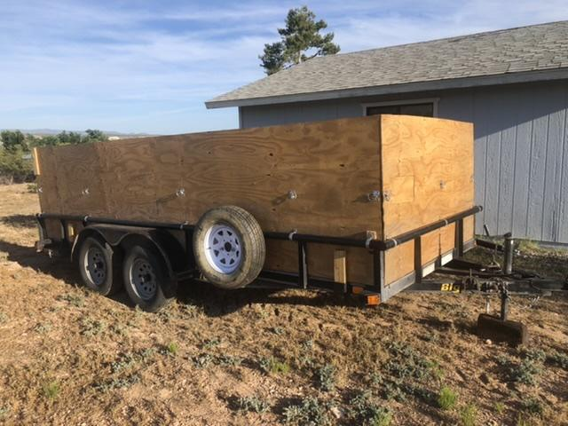 2008 Big Tex 7 x 16 Tandem Axle Utility Trailer