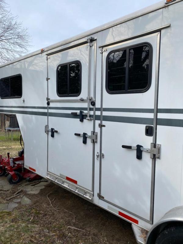 2010 Equispirit 2 Horse Straight Load Gooseneck Trailer w/ Side Ramp