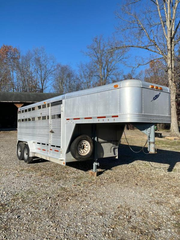 1994 Featherlite 7 x 16 Aluminum Stock Trailer