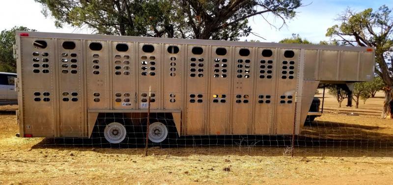 1993 Wilson 7' x 20' Aluminum Livestock Trailer