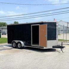 2016 Triple R 7x16 Tandem Axle Enclosed Cargo Trailer