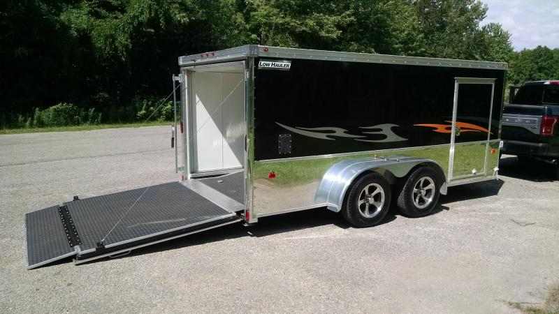 2016 Haulmark V-Nose Low Hauler 7x14 Tandem Axle Enclosed