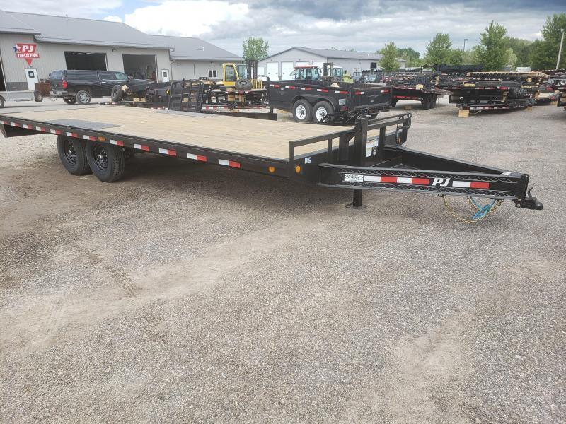 2018 PJ Trailers 8' x 22' Deckover Equipment Trailer w/ Monster Ramps