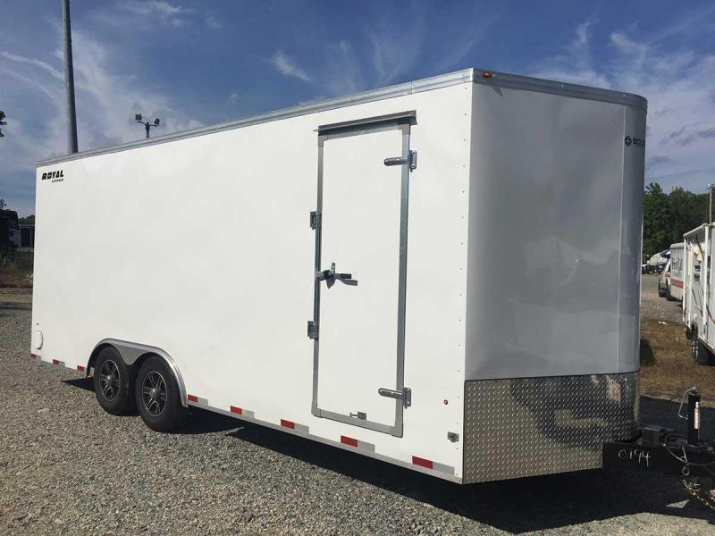 2020 Royal Cargo 8' x 22' V-Nose Enclosed Cargo / Car Trailer