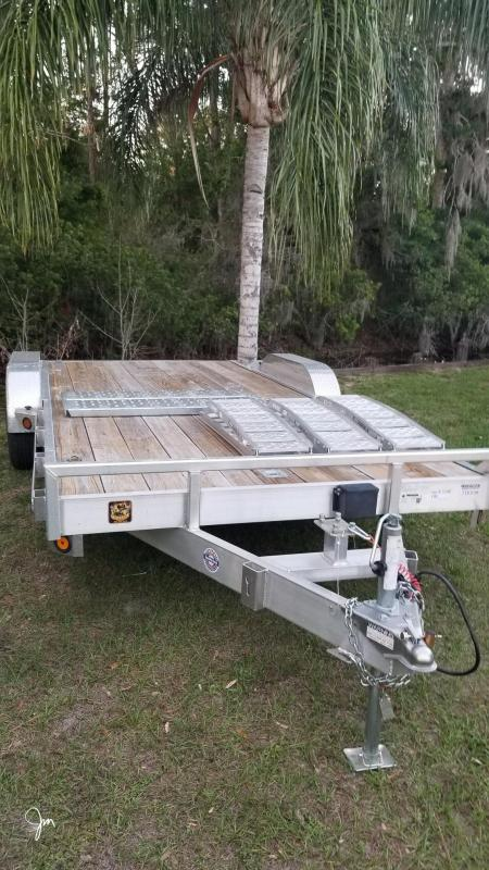 "2019 Quality Steel and Aluminum 83""x18' Car / Racing Hauler"