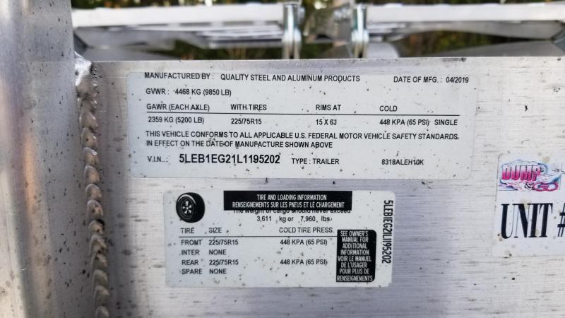 "2019 Quality Steel and Aluminum 83""x18' Car / Racing Hauler"