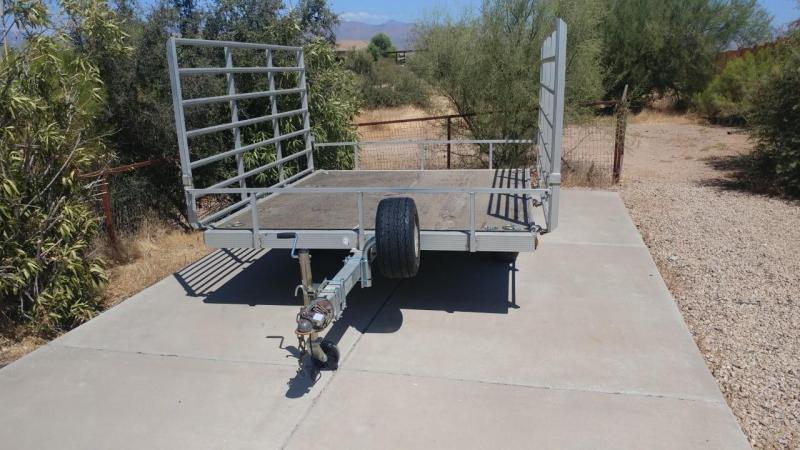 """2000 Triton 6'5"""" x 8'5"""" Aluminum ATV/Utility Trailer"""