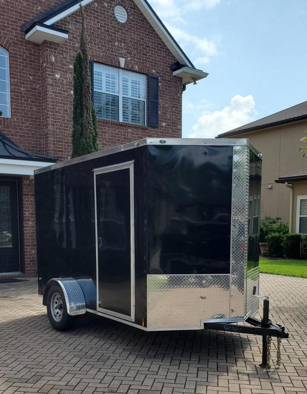 2021 Douglas 6 x 10 Single Axle Enclosed Trailer w/ Rear Barn Doors