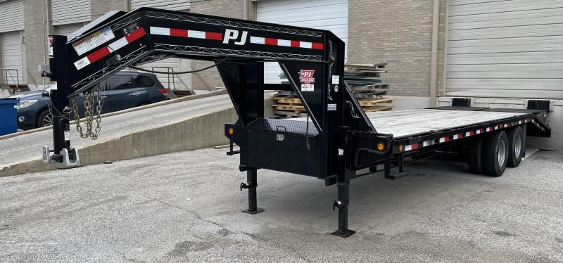 "2018 PJ 102"" x 20' + 5' Gooseneck Flatbed Trailer w/ Monster Ramps"