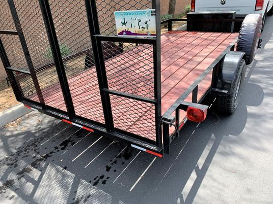 2019 Gravely 6 x 14 Single Axle Off Road Utility Trailer