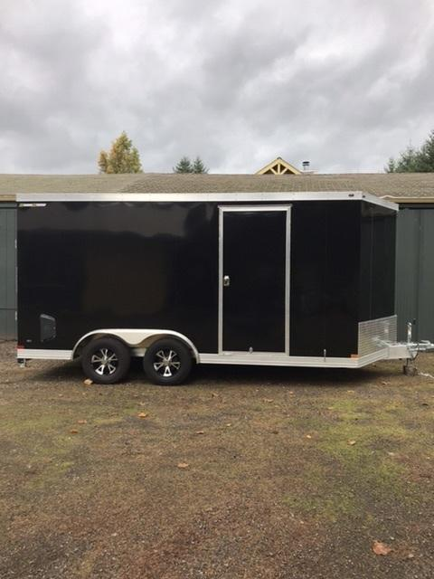2020 Wells Cargo Silver Sport 8 x 16 Enclosed Cargo Trailer