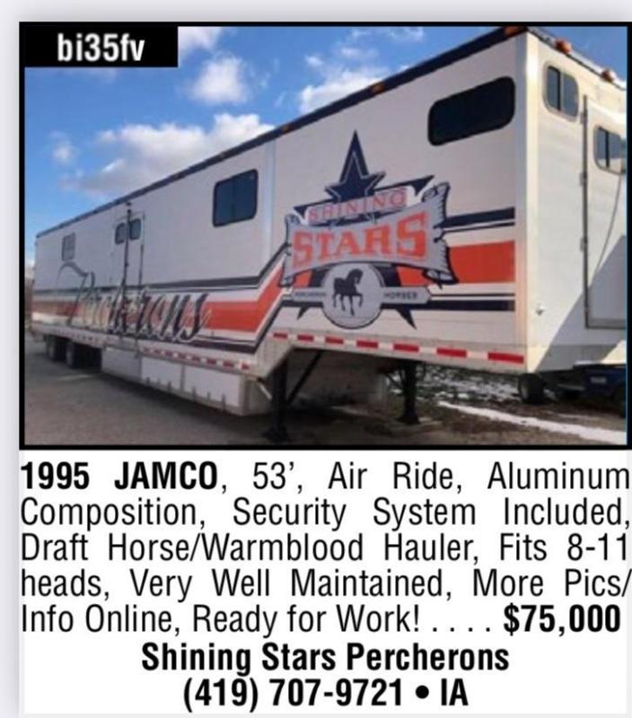 1995 Jamco 11 Horse Aluminum Semi Van