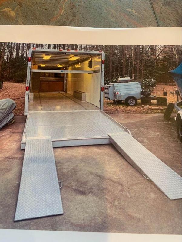 2000 Featherlite 8.5' x 32' Aluminum Gooseneck Enclosed Cargo Trailer