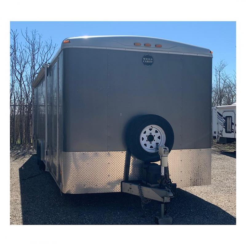 2015 Wells Cargo 8.5 x 20 Enclosed Cargo Trailer